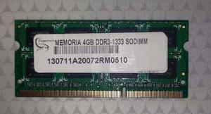 VENDO MEMORIA RAM DDR3 4GB LAPTOP