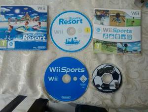 Wii Sport + Super Mario Strikers (gamecube)