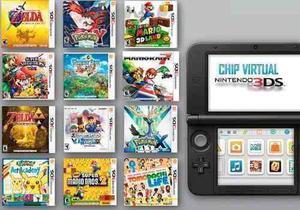 Chip Virtual Nintendo 3ds Xl+temas+juegos Todas Las Versione