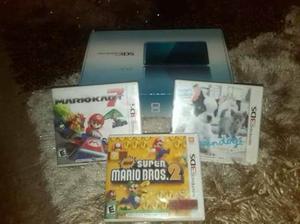 Nintendo 3ds Nuevo Con 3 Juegos Originales