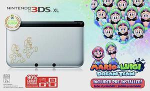 Nintendo 3ds Xl Silver - Mario & Luigi Dream Team + 3 Juegos