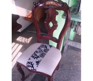 vendo juego de comedor 6 sillas estilo Luis V