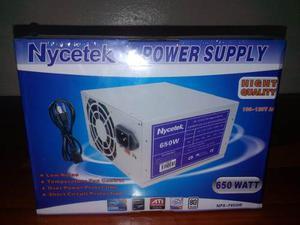 Fuente De Poder Marca Nycetec 650 Watt Modelo Nps-f650w