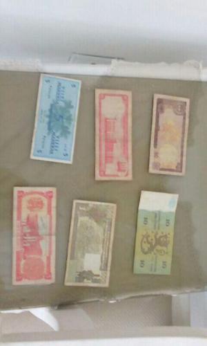 coleccion de billetes extranjeros y nacionales