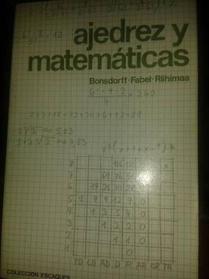 Ajedrez Libro Usado Ajedrez Y Matematicas