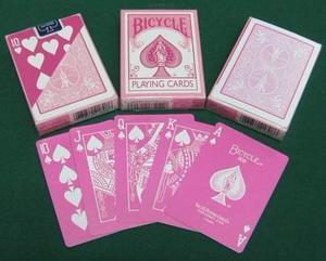 Cartas Poker Y Magia / Baraja Bicycle Pastel Rosada