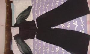 Elegante Corsé Negro con Pantalón