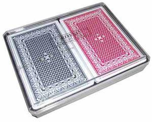 Juego De 2 Masos Cartas De Poker Corona 100% Nylon Plasticas