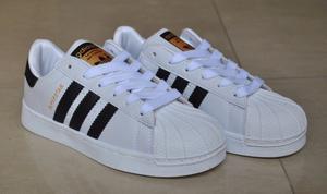 Kp3 Zapatos Adidas Superstar Clásicos Para Caballeros