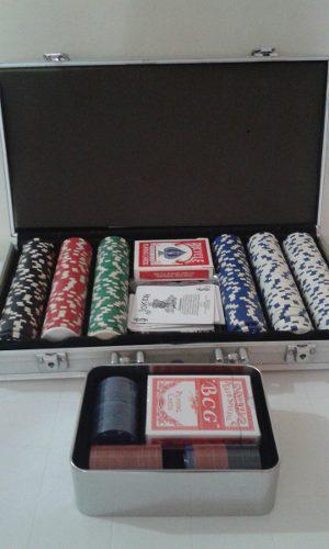 Maleta De Poker Profesional Fichas De Arcillo