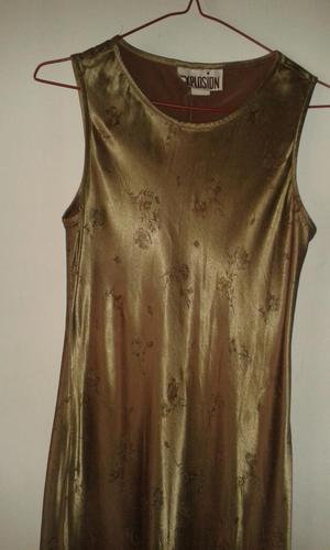Vestido de Noche Largo Color Dorado
