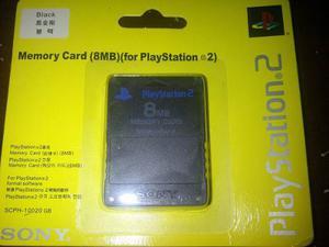 Memory Card Sony De 8 Mb Para Playstation 2 Nuevas