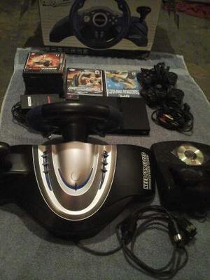 Playstation 2 Chipeado 100% Funcional Como Nuevo. Combo.