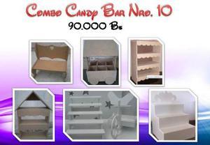 Mobiliario En Mdf Combo Nro 10 Combo Candy Bar En Crudo