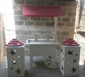 Set Carreta Mobiliario Candy Bar Para Mesa D Dulces Cupcakes