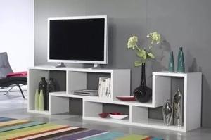 Mueble Minimalista Multifuncional Modular L Moderno Tv Mdf