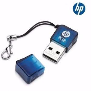 Pen Drive 8gb Marca Hp Azul Mini Portable Pendrive El Mejor
