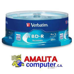 Torre De 25 Discos Blu Ray Bd-r 25gb 6x Calidad Verbatim Dj