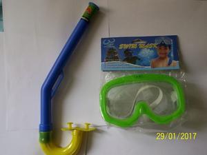 Careta Con Snorkel,para Niños Y Adolecentes, Fotos Reales