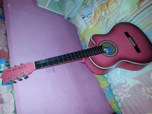 Guitarra totalmente nueva rosada