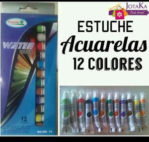 Acuarelas Watercolor Estuche 12 Colores