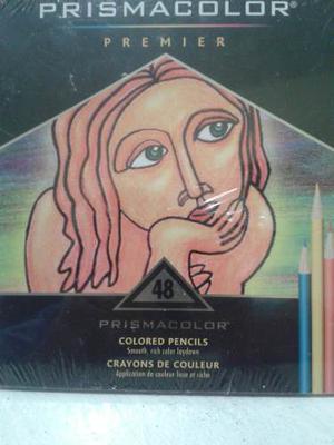 Colores Prismacolor Premier 48 Creyones Nuevos Caja De Metal