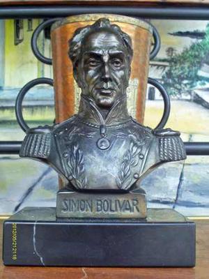 Escultura Antigua Simon Bolivar De R W Lange Base De M