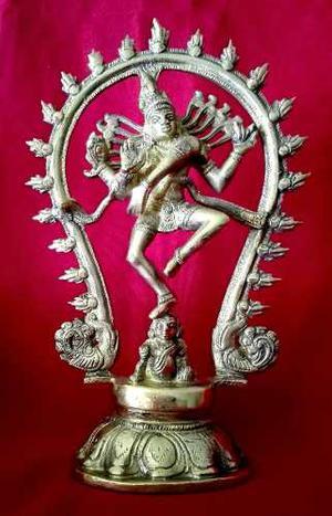 Escultura De Bronce Dios Shiva Nataraja Hindu Perfecta Unica
