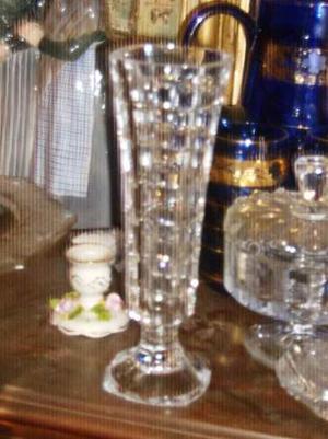 Florero De Cristal De Bohemia Buen Diseño Buen Brillo Buen