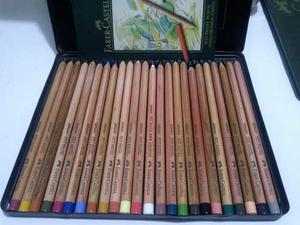Lápices Pastel Pitt Faber Castell 24 Colores Poco Uso!