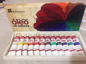 Oleo 12 Colores De Aceite(2 Colores Abiertos)