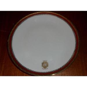Plato De Porcelana Marca Bavaria Ministerio De La Defesa Y