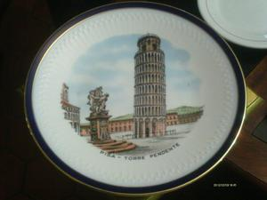 Plato De Porcelana Marca Hutschenreuther Bavaria Pisa Torre