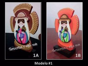Virgen, Figura Religiosa De La Divina Pastora Mdf