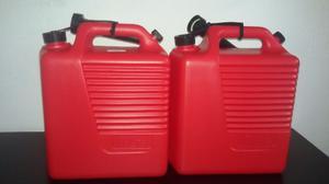 Bidon De Plástico Para Gasolina De 10 Litros Color Rojo