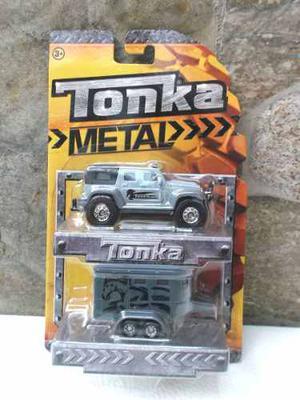 Jeep Tonka Original Serie Metal Con Trailer De Remolque