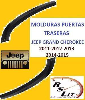 Molduras Puertas Traseras Jeep Grand Cherokee  Al