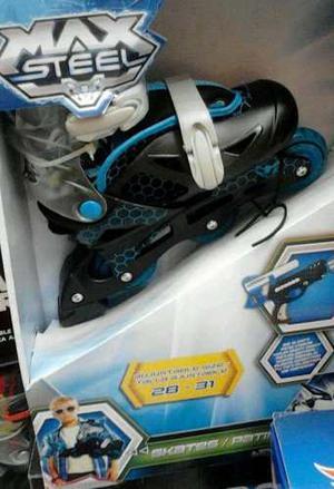 Patines Lineales 3 Rueda Max Steel Ajustable