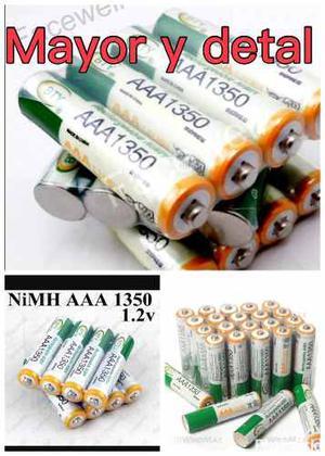 Pila Bateria Recargable Aaa mah Ni Mh 1.2v Marca Bty