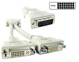 Splitter Cable Un Dvi 24+1 Macho A Dos Dvi 24+5 Hembra