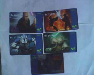 Tarjeta Movistar Serie Completa Star Wars Usadas De Colecc