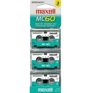 Micro Cassettes Maxell Mc60. 2 Pack De 3 Cassette