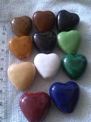 Dijes Corazón Porcelana Para Bisutería Y Orfebrería X
