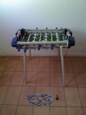 Futbolito Mesa Con Jugadores Real Madrid Y Barcelona Usado