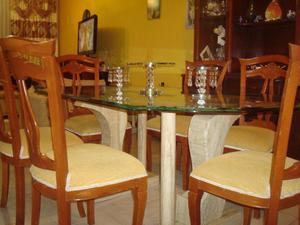 Mesa comedor sin sillas de vidrio bases de marmol posot - Bases de marmol para mesas de comedor ...