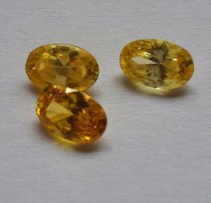 Piedra Facetada 4x6 Amarilla Sintetica Anillos De Grado