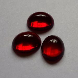 Piedra Optica 10x8 Rojo Intenso (casi Granate)