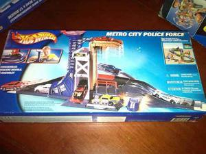 Pista Hotwheels Metro City Police Force