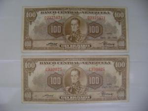 BILLETES DE 100 Bs ANTIGUOS