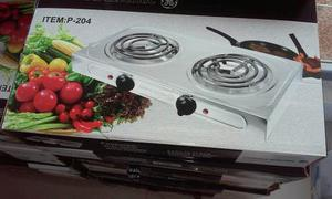 Cocina Electrica 2hornillas Ge General Electric Cromada